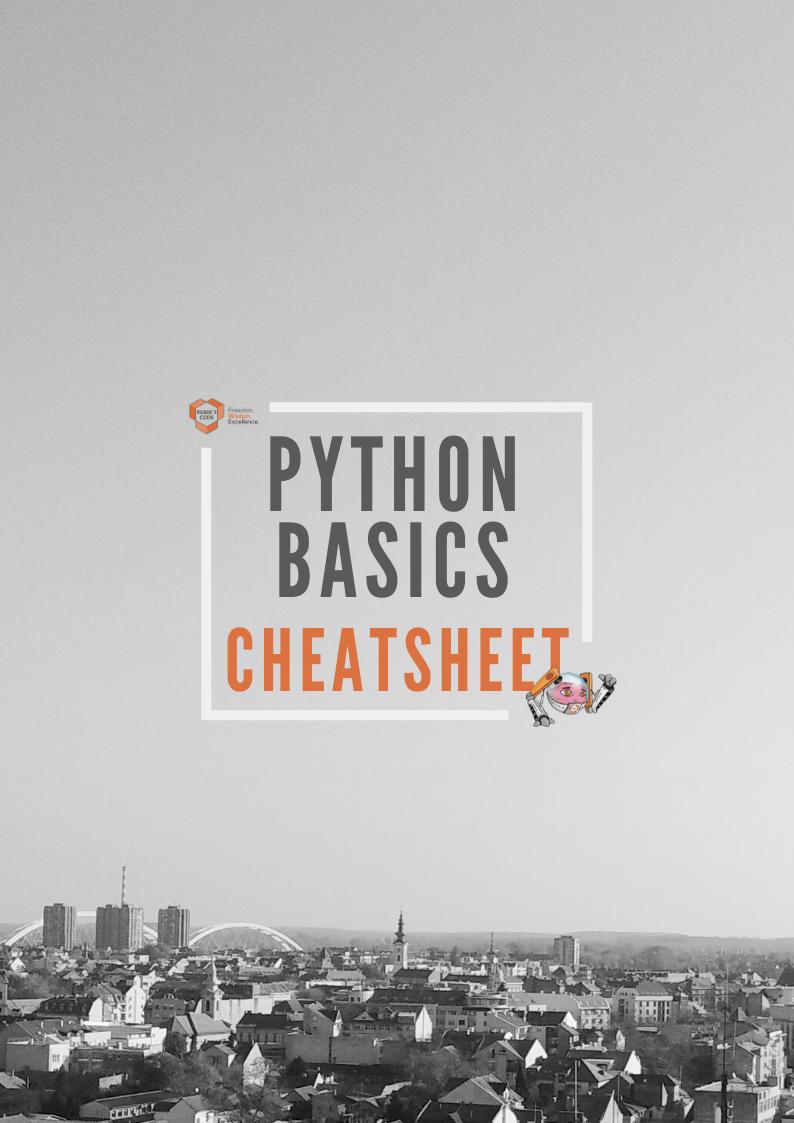 Python Cheatsheet